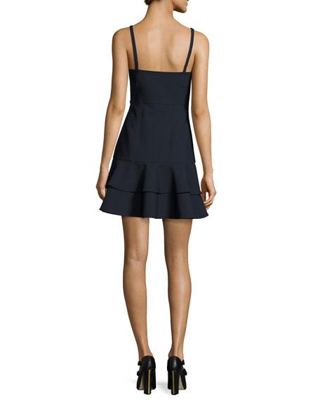 Dara Embroidered Sleeveless Mini Dress