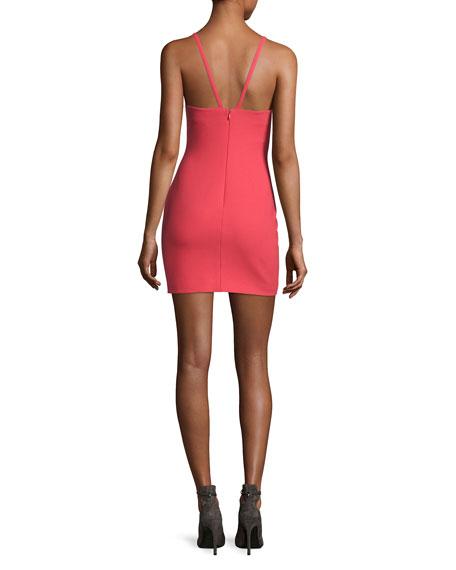 Ara Sweetheart-Neck Mini Dress, Pink