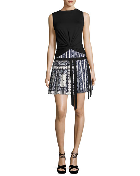 Amory Silk A-line Skirt, Multi