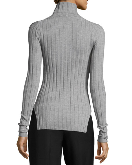 Corina Ribbed Mock-Neck Sweater