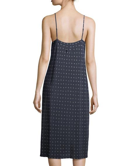 Refined Dot Silk Camisole Dress, Coastal