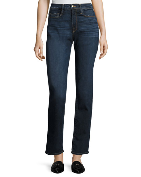 Le Nouveau High-Rise Straight Jeans, Blue