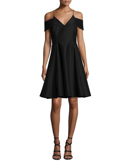 Sleeveless Split-Neck A-line Cocktail Dress