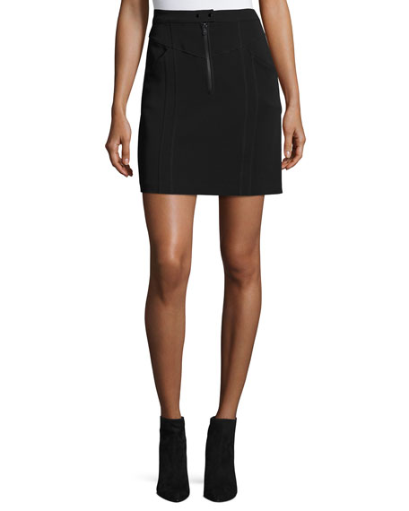 Porter A-Line Crepe Mini Skirt