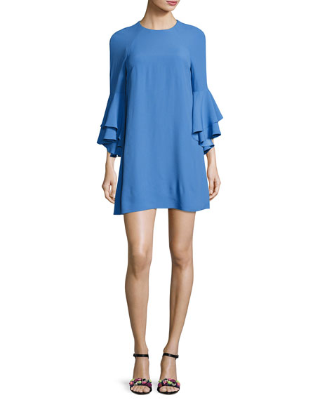 Alexis Melany Ruffle Sleeve Mini Dress