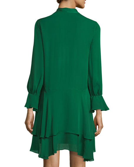 Moore Layered Silk Tunic Dress