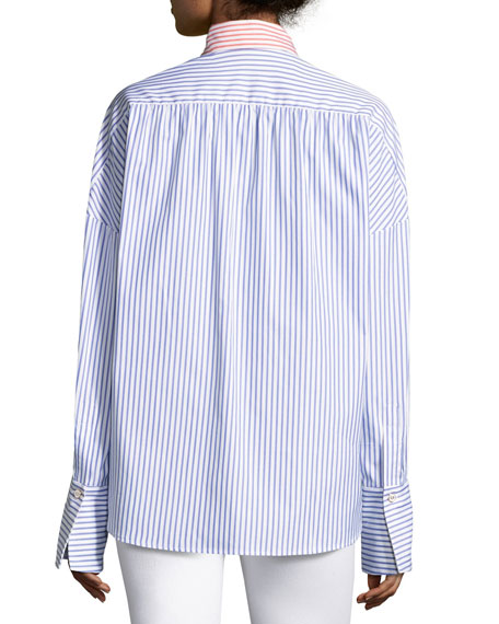 Linda's Colorblock Stripe Blouse, Multi