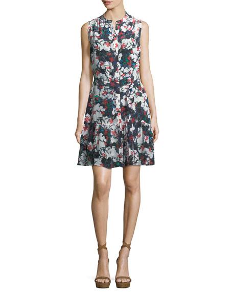 Tilly Sleeveless Mini Dress, Blue Multi