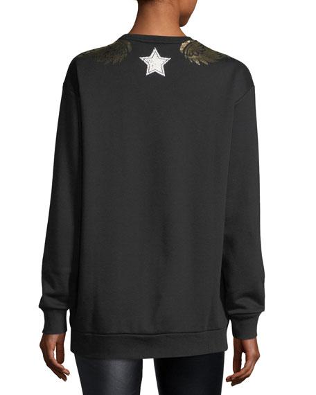 Sweatshirt w/ Gold Lamé Wings