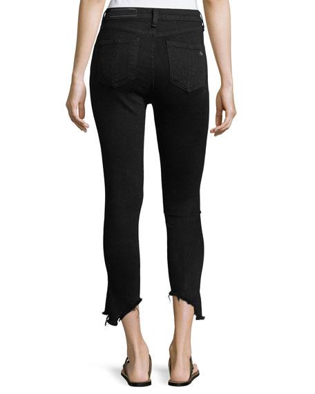 10-Inch Capri Jeans w/ Destroyed Hem