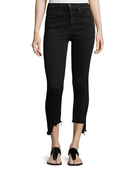 10-Inch Capri Jeans w/ Destroyed Hem