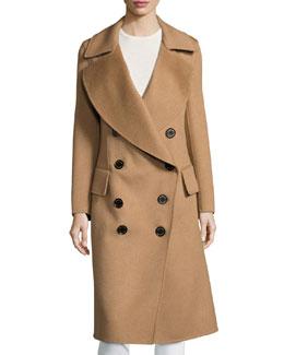Camelhair Oversized Pea Coat