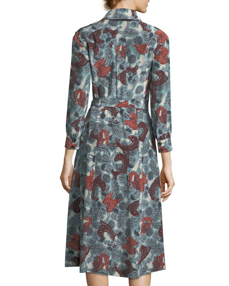 Heritage Printed Silk Wrap Dress
