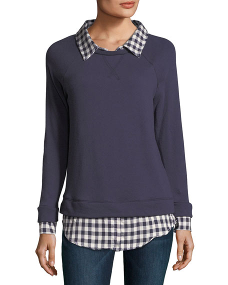 Soft Joie Diadem Combo Sweater W Check Shirting