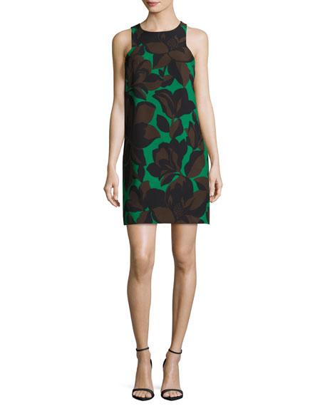 Sleeveless Floral-Print Cady Minidress