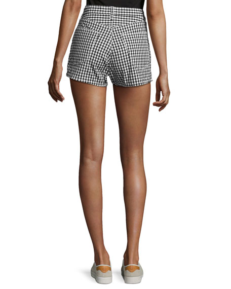 Justine High-Rise Gingham Shorts