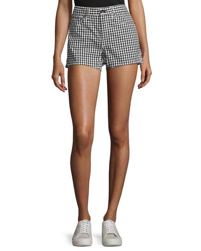 Justine High-Rise Gingham Shorts