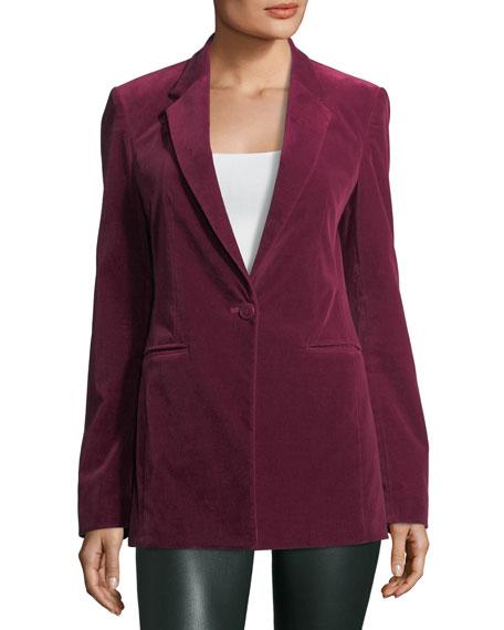 Power Stretch-Velvet Tailored Jacket