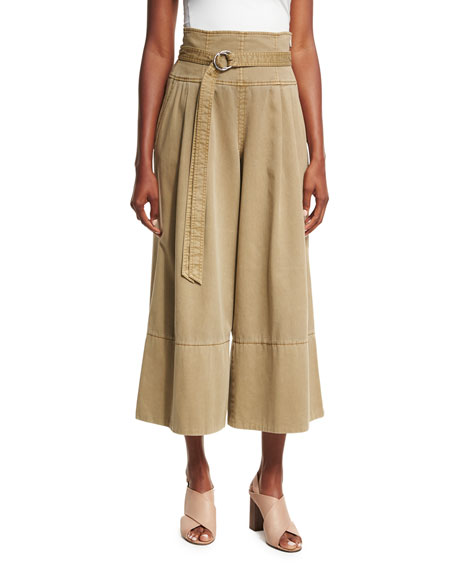 Sandy High-Waist Gaucho Pants