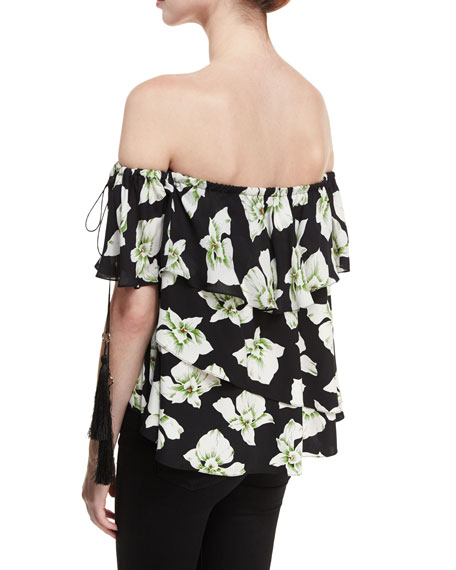 Orchid Kahlia Off-the-Shoulder Floral-Printed Blouse