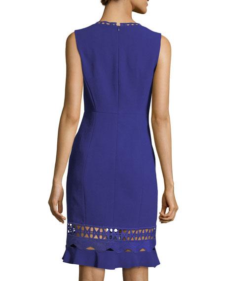 Clarissa Sleeveless Fluid-Crepe Dress