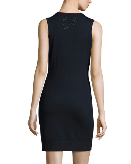 Adriana Sleeveless Knit Sheath Dress
