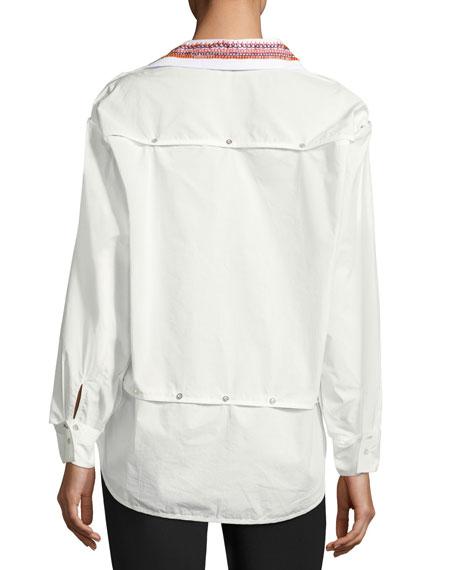 Poplin Transformer Button Shirt