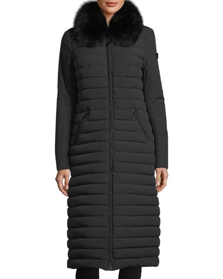 Zambla Long Ribbed Puffer Coat