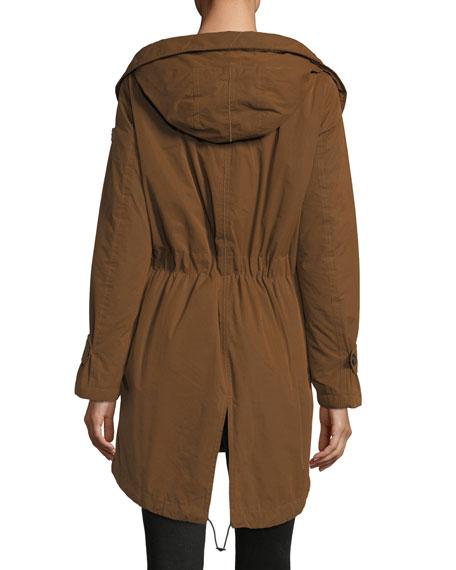 outlet store 2af7b e646a Cuertin Long-Sleeve Hooded Parka Jacket w/ Fur Trim
