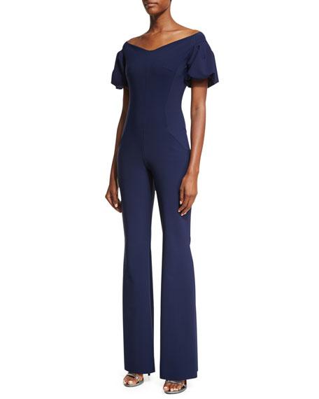 Chiara Boni La Petite Robe Isako Puff-Sleeve Jumpsuit