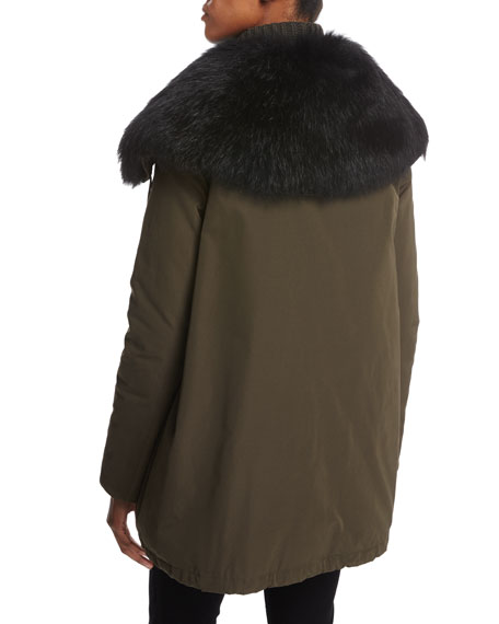 Agapanthus Fur-Trim Parka