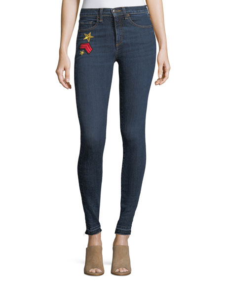 """Kate 10"""" Mid-Rise Skinny Jeans w/ Patches"""