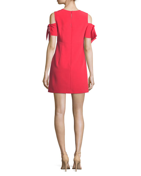 Short Tie-Sleeve Italian Cady Mod Minidress