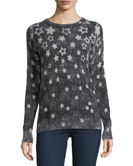 Reversible Inked Stars Cashmere Sweatshirt