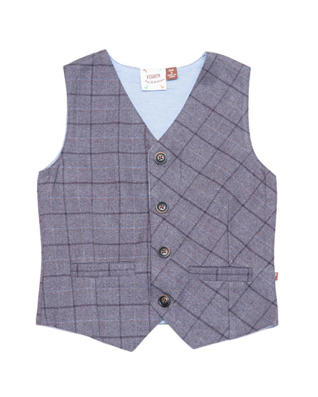 Club Plaid Vest, Size 2-8