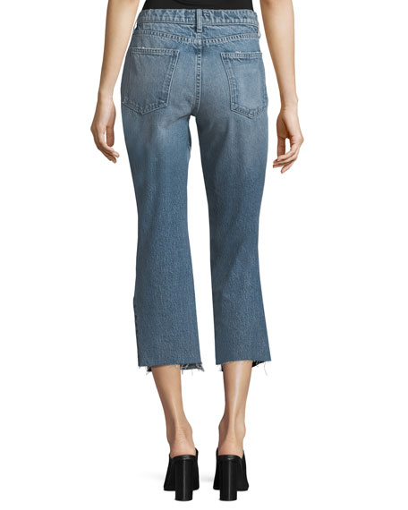 The Kick Mid-Rise Straight-Leg Jeans w/ Insert