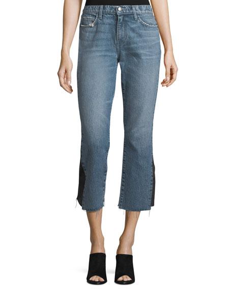 The Kick Mid-Rise Straight-Leg Jeans w/ Insert