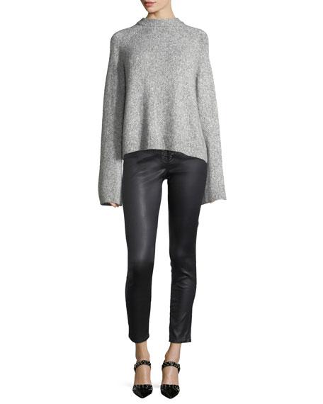 Farrah Lace-Up High-Rise Skinny-Leg Ankle Pants