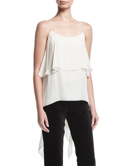 Maribel Asymmetric Drape Silk Camisole
