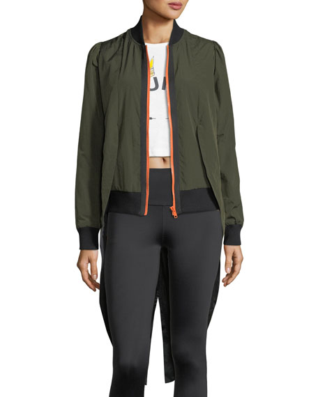 Tails Zip-Front Bomber Jacket