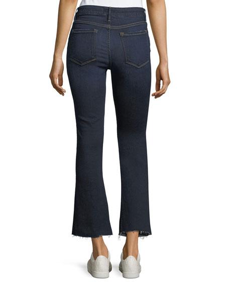 Le Crop Raw-Edge Hem Mini Boot Jeans