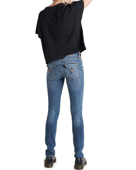 e68a128681b Hudson Tally Mid-Rise Skinny Crop Jeans