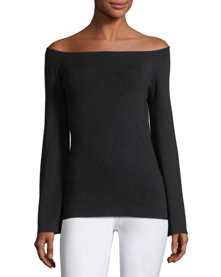 Ballerina-Neck Italian Silk Sweater