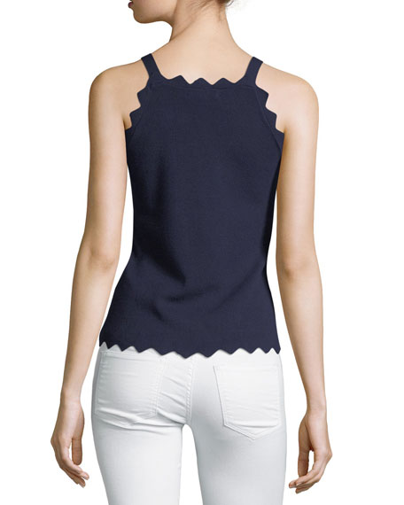 Pointed Scallop Tank Top