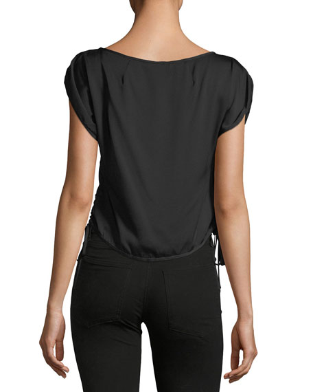 Lona Stretch Silk Top