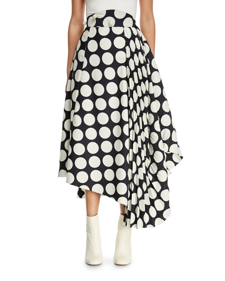Giant Polka-Dot Skirt with Pleated Detail