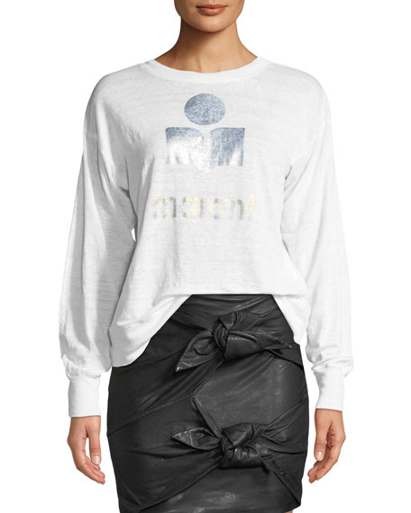 Klowia Crewneck Long-Sleeve Graphic Tee