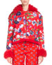 Kenzo La Collection Memento N°1 Faux Fur-Trim Floral-Print