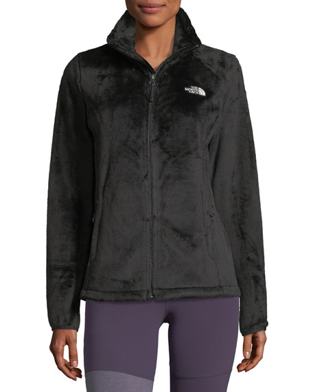 Osito Zip-Front Fleece Performance Jacket, Black