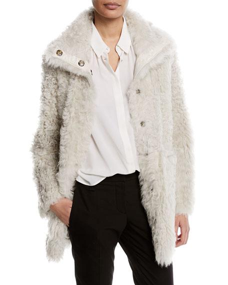 Reversible Shearling Fur Coat
